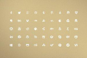Grunge Dust 45 Social Media Icons