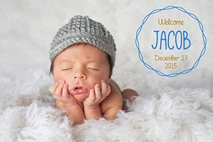 Birth Announcement Photo Overlays