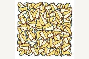 frame of doodle leaves