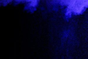 Abstract smoke and water drops