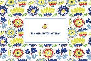 Summer vector pattern