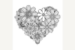 heart-shaped pattern illustration