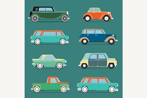 Set Vintage cars