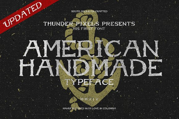 American Handmade Typeface in Display Fonts