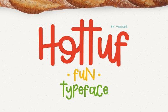 Hottuf Font Display Fonts Creative Market