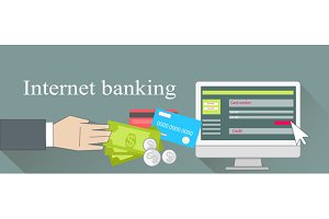 Internet Banking Money Credit Card