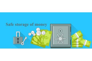 Safe Storage of Money Design Flat