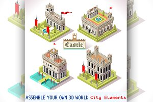 Castle Medieval Tiles for Games
