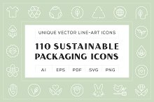 SALE - Sustainable Packaging Icons by  in Graphics