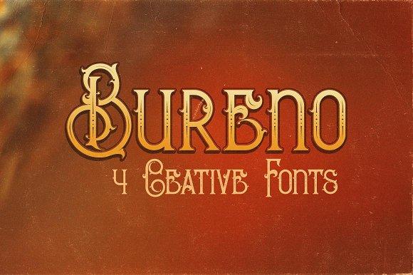 Bureno - Decorative Font