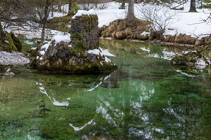 Reflections at lake Bohinj