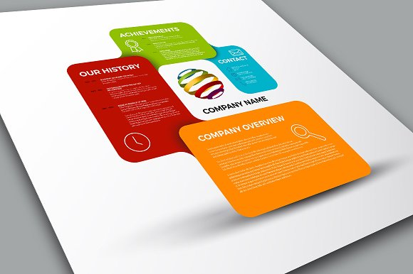 Company Profile Template Presentation Templates on Creative Market – IT Company Profile Template