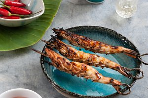 Japanese Grilled BBQ Prawns