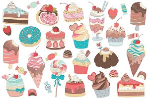 31 Treats & Candy Vector and PNG Set