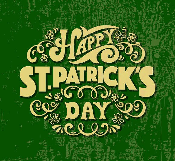 St. Patrick's Day Lettering  - Templates