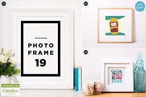 Photo frame mockup collection