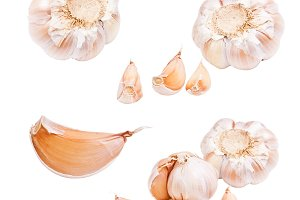 Collection of garlic
