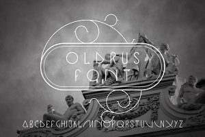 Oldrus vector linear font