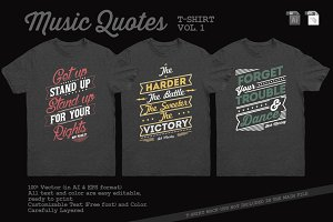 Music Quotes T-Shirt Template Vol. 1