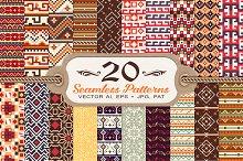 20 Tribal Vintage Seamless Patterns