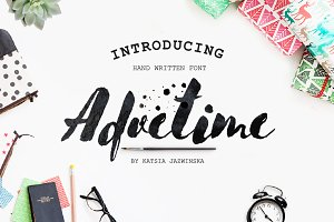 Advetime Brush Script