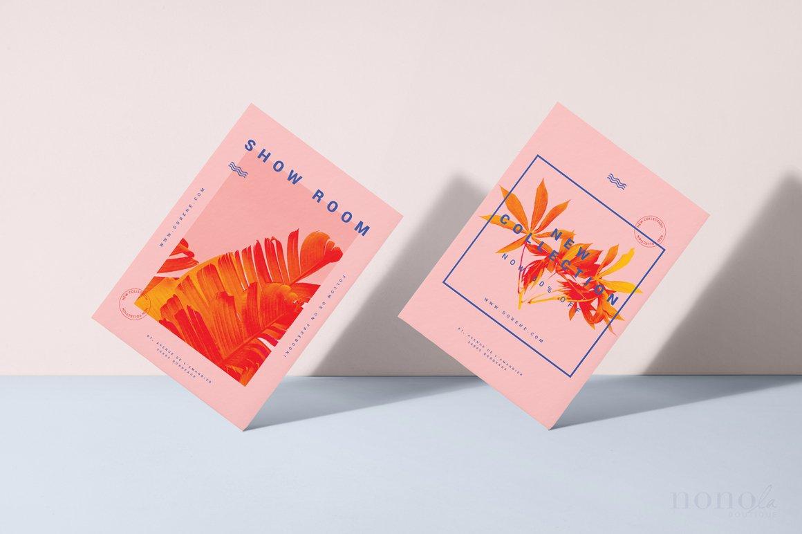2 bold fashion postcards dorene card templates creative market pro