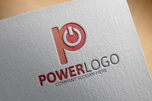 Power- Letter P Logo