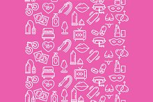 Intim or Sex Shop Background. Vector