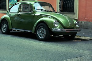 Retro car, Volkswagen Beetle