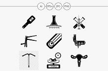 Gynecology black design icon. Part 2
