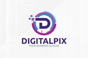 Digital Pix - Letter D Logo
