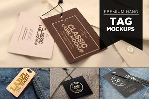 14 Premium Hang Tag Mockups Vol. 2