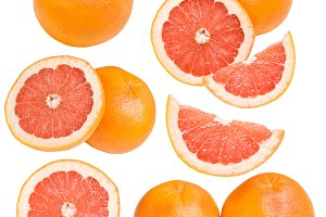Collection of grapefruits