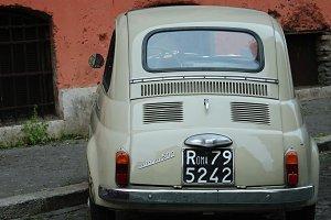 Retro car, Fiat 500