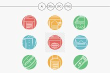 Sport supplement abstract line icons