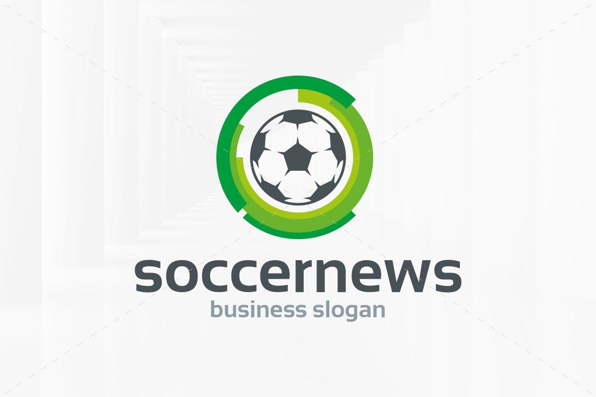 Soccer news logo template logo templates creative market maxwellsz
