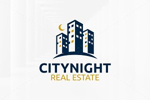 City Night Logo Template