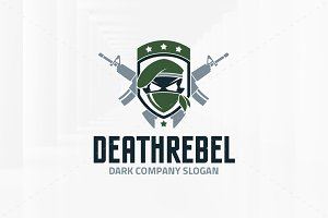 Death Rebel Logo Template