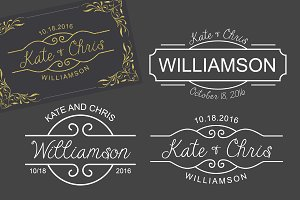 3 Monogram Template Logo Wedding