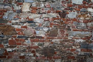 Part of a stone brick wall