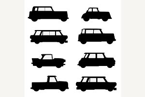 Set of classical cars.