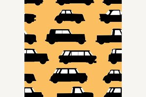 Car icon seamless pattern