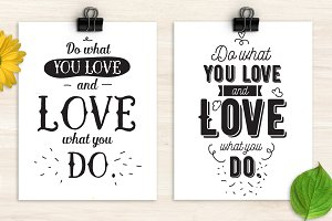 Do what you love, two cards