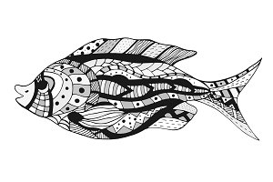 Vector stylized Fish.