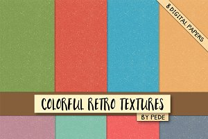 Colorful retro textures.