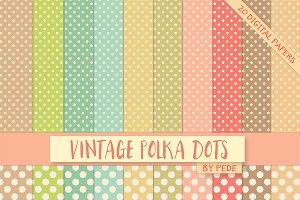 Vintage polka dots.