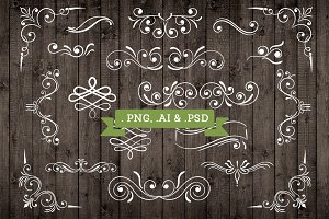 Vector Ornament Elements Decorations