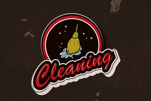 Cleaning service logo professional