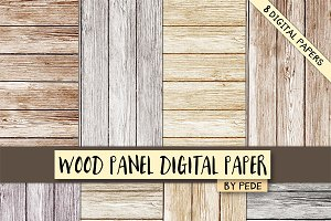 Wood panel digital paper.