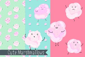 Cute marshmallows